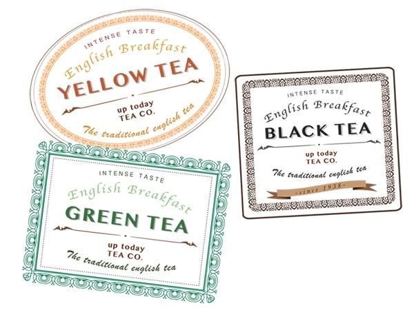 Graphic design tea label - progettazione grafica di etichette per food