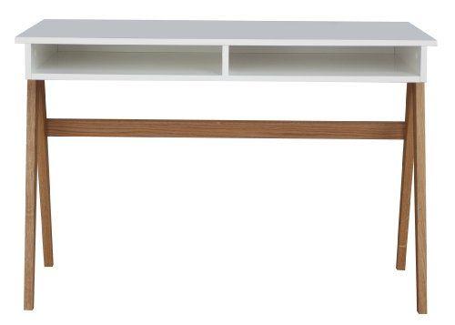 Tenzo 2020 454 Strada Designer Schreibtisch Untergestell Eiche Massiv 75 X 110 X 55 Cm Weiss Eiche Lackiert Mat Desk Design Home Office Furniture Uk Desk