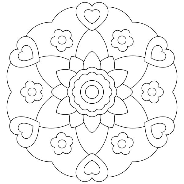 Flowerish Mandala Coloring Pages For Kids Printable Mandalas