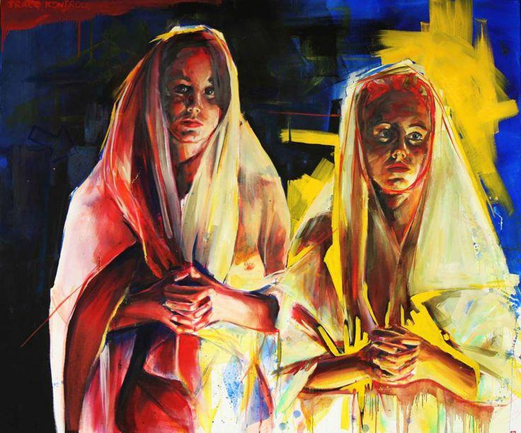 ''Trace kontrole'' Angelika Korzeniowska, olej na płótnie, 110 x130 2014 r