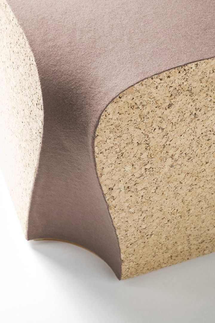 no man's land | Design Inspiration ♥ | Cork and wool | Eroded Stools by I M Lab 07