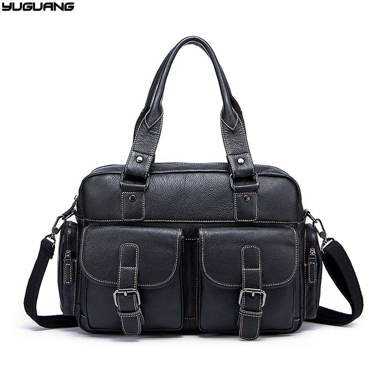genuine leather handbags cowskin men luggage travel bags top-handle tote work bag Sacoche Homme crossbody bags for men