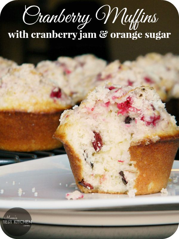 Cranberry Muffins with Cranberry Jam & Orange Sugar | www ...