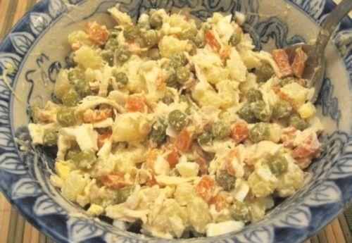 Куриный салат с овощами по-уральски