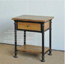 Американский кантри деревянная мебель / чердак сделать по старому стилю промышленного / металлический каркас журнальный столик журнальный столик ящик кабина(China (Mainland))