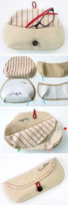 DIY Glasses Case Sewing Tutorial + free Pattern Nossa, tava precisando de um desses