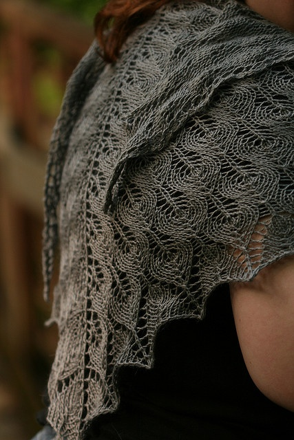 Shetland Triangle Lace Shawl by Evelyn A. Clark knitting pattern $7.95 on…