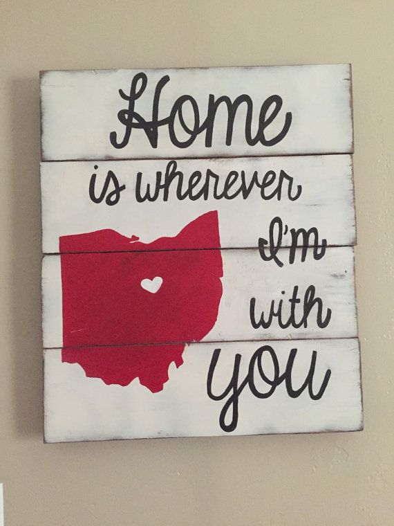 Ohio is for Lovers Refinished Wood Sign by FierceFoxCreations