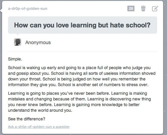 School isn't about learning anymore...