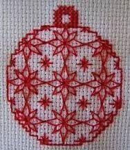 Resultado de imagen para sino de natal bordado em pontos livres