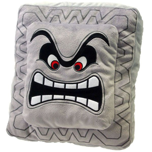 Super Mario Plush Cushion Series: Thwomp/Dossun