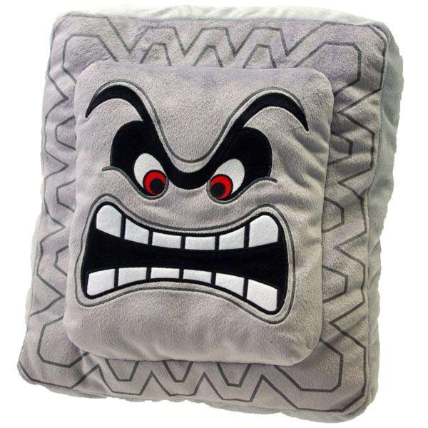 Super Mario Plush Cushion Series: Thwomp/Dossun