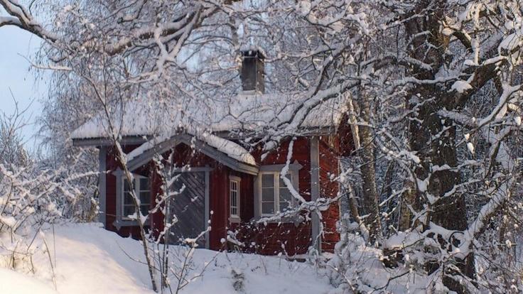 Sauna in snow. Foto: Heljä Lehtonen