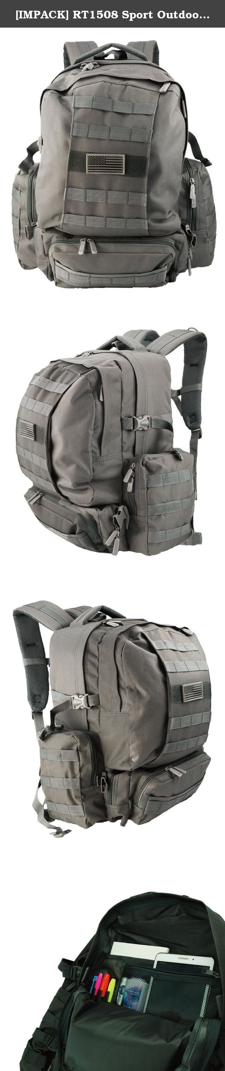 [IMPACK] RT1508 Sport Outdoor Military Tactical Molle Backpack Camping Hiking Trekking Backpack (DCG WITH 1 FREE PATCH). 12.5 x 7 x 19.5 inches.