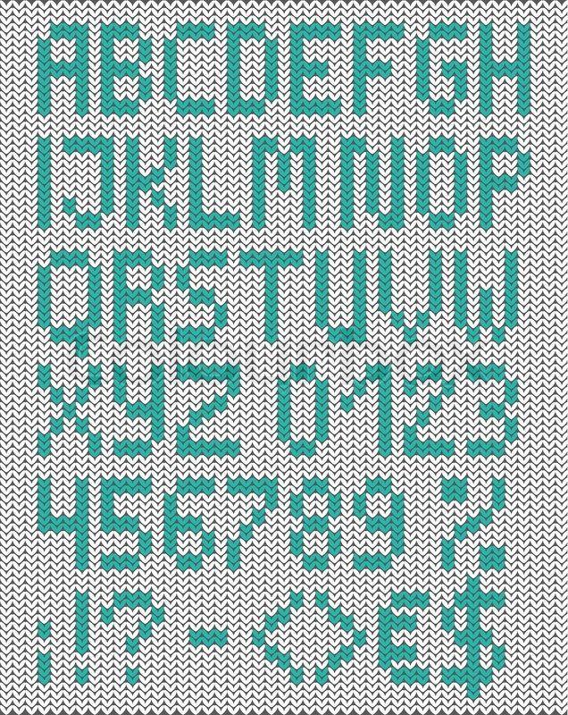 Stock vektor ✓ 17 mio. billeder ✓ Billeder til web og print i høj kvalitet   Strikket store bogstaver engelske alfabet med tal og symboler