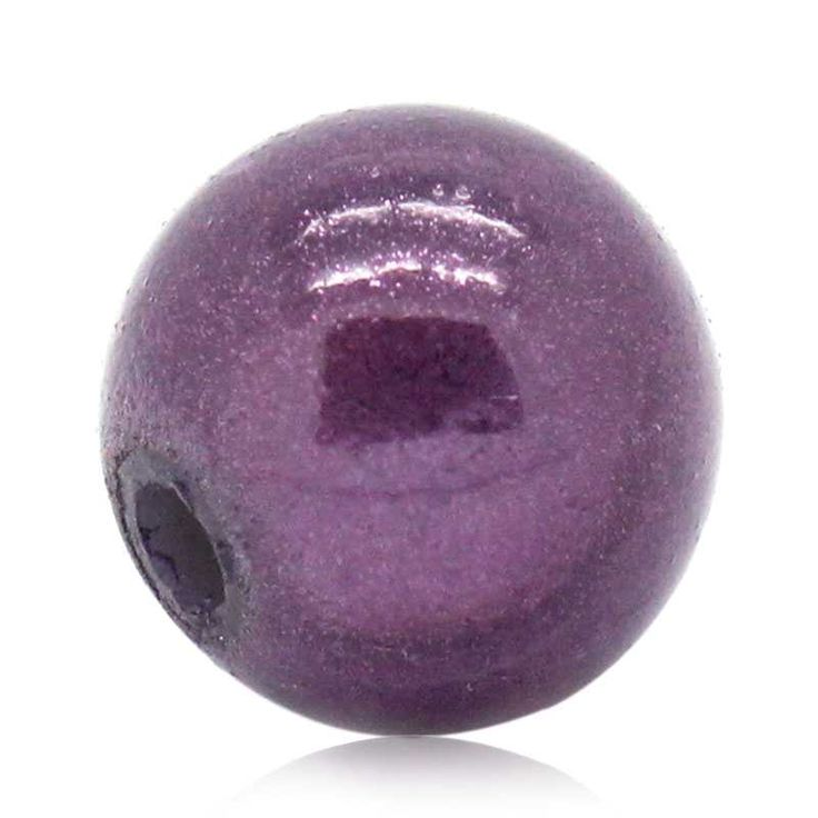 Acrylic Spacer Beads Round Purple Miracle/Illusion 8mm, 200PCs