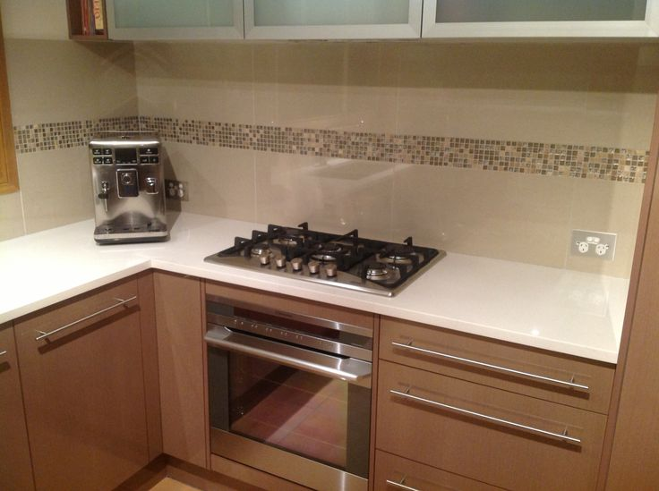 Cooktop and oven installed