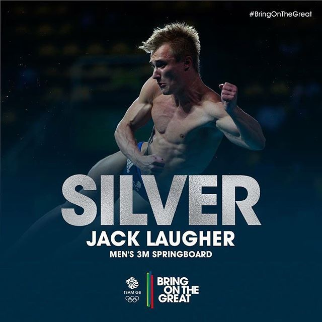 #Silver! Incredible diving in the 3M Springboard Final sees @jacklaugher take home his second Medal of the Rio Olympics! Get in Jack, magnificent! #BringOnTheGreat #TeamGB