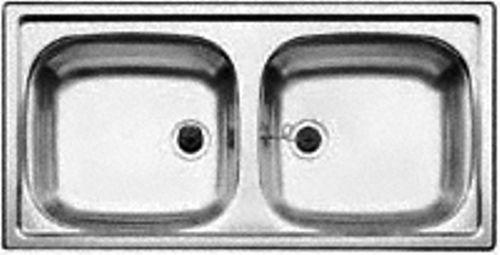 *NEU* BLANCO Doppelbecken Doppelspüle Einbau Spüle Edelstahl 86x43,5 cm