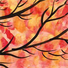 Mit Wasserfarben ein goldenes Herbstbild gestalten
