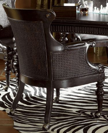 Kingstown Gibraltar Game Chair With Casters By Tommy Bahama Home   Hamilton  Park Interiors   Dining Chair With Casters Interior Design Salt Lake City,  ...