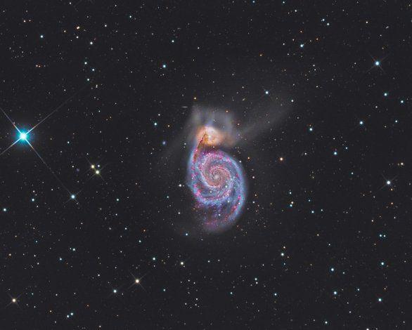 M51 HaLRGB | Únor | 2017 | Česká astrofotografie měsíce | Fotogalerie | Astronomický informační server astro.cz