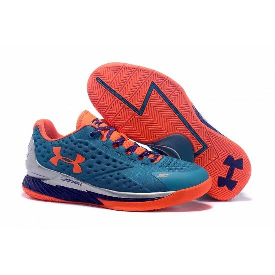 Under Armour Curry One Low Women Blue silver orange sneaker