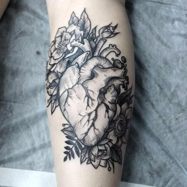 I want an anatomically correct heart tattoo on my arm so that one day when I get a full sleeve of tattoos I can say that I wear my heart on my sleeve :)