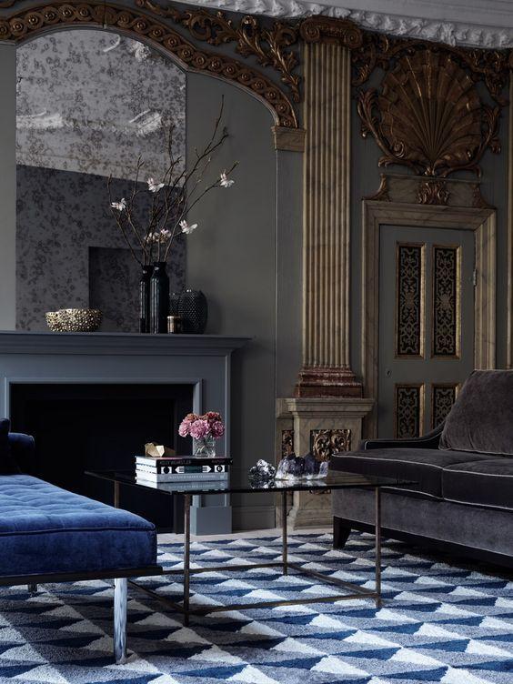 Sabon home · dark interiorsbeautiful interiorscountry housesmodern classic interioreclectic