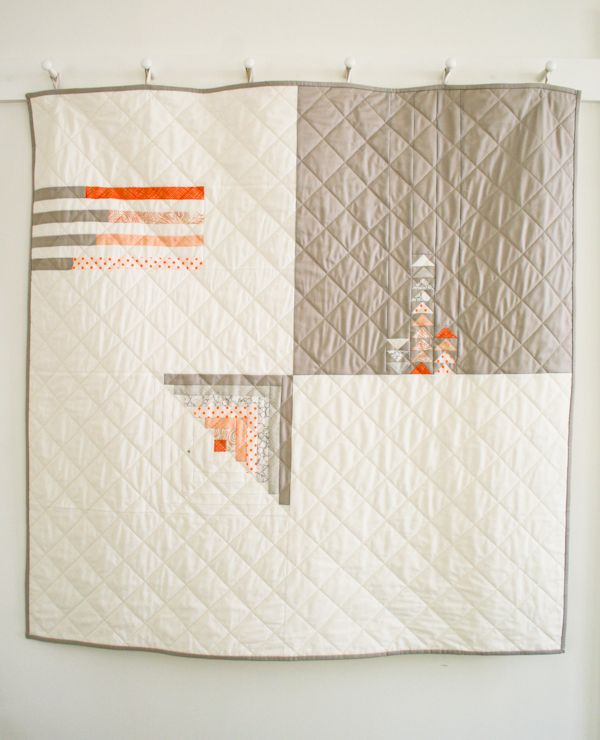 Tuto DIY :: Mollys Sketchbook: Simple Four Square Quilt - The Purl Bee