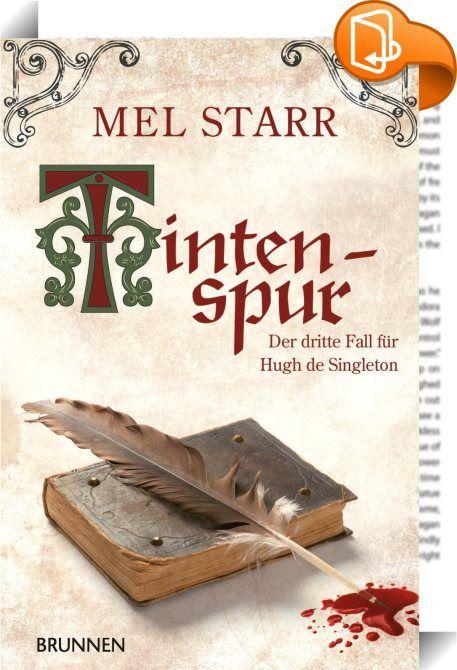 """Tintenspur    :  """"Noch nie hatte ich Magister John Wyclif so aufgewühlt gesehen. Einem Gelehrten die Bücher zu rauben, so erklärte er mir später, sei ebenso verwerflich, wie einem Mann die Frau zu stehlen. Zu diesem Zeitpunkt vermochte ich nicht einzuschätzen, ob seine Meinung zutreffend war - denn ich hatte keine Frau und nur wenige Bücher.""""  Oxford, im Jahr 1365. Was für Magister Wyclif eine Katastrophe ist, erweist sich als günstige Gelegenheit für Hugh de Singleton, Burgvogt im Stä..."""