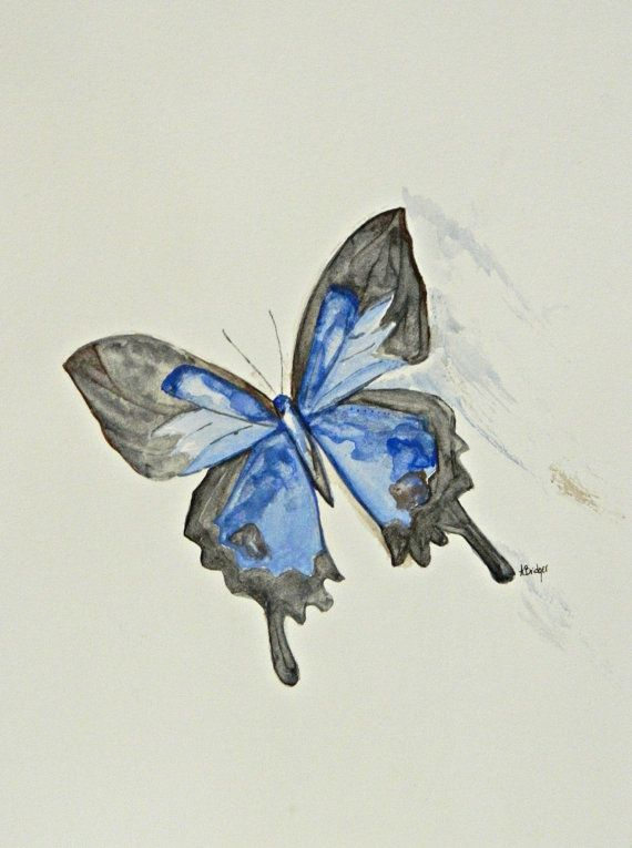 ORIGINAL Butterfly Watercolor Painting By AshleyBridgerArt On Etsy, $22.00
