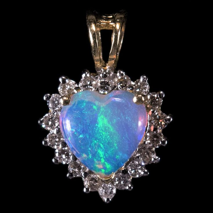 128 best opal jewelry images on pinterest opal jewelry opal and natural opal heart diamond halo pendant 14k gold diamond opal pendant heart opal aloadofball Choice Image