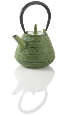 Stitch Green Cast Iron Teapot (note to friends *awesome wedding gift*)