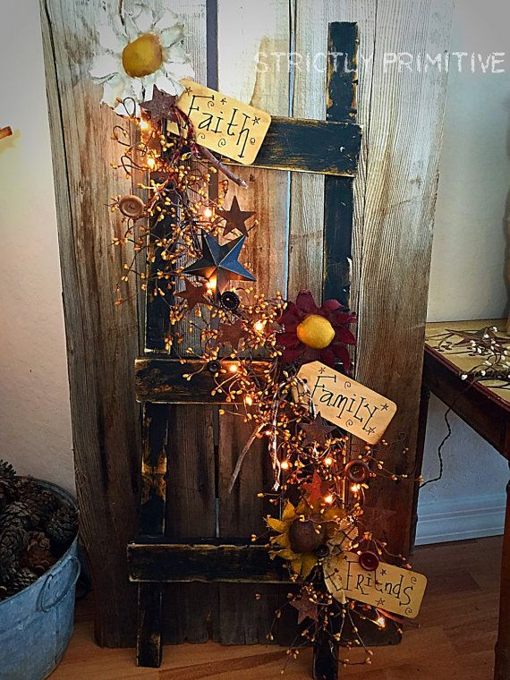 Best 25 Rustic Ladder Ideas On Pinterest Decorative