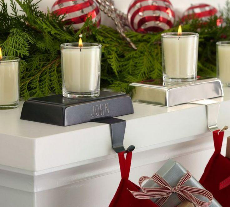 Рождественские украшения камина _08