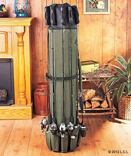 Never seen anything quite like this. Looks like a great concept & I'd love to try it out sometime... anyone out there use one? Let me hear from you. Portable Fishing Rod Carrier