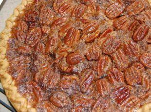 Easy Pecan Pie Recipe Ingredients 1 c karo light corn syrup 1 c sugar 3 eggs, well beaten 2 Tbsp butter, melted 1 tsp pure vanilla extract 1 1/2 c pecan halves 1 9 inch, deep dish frozen pie crust
