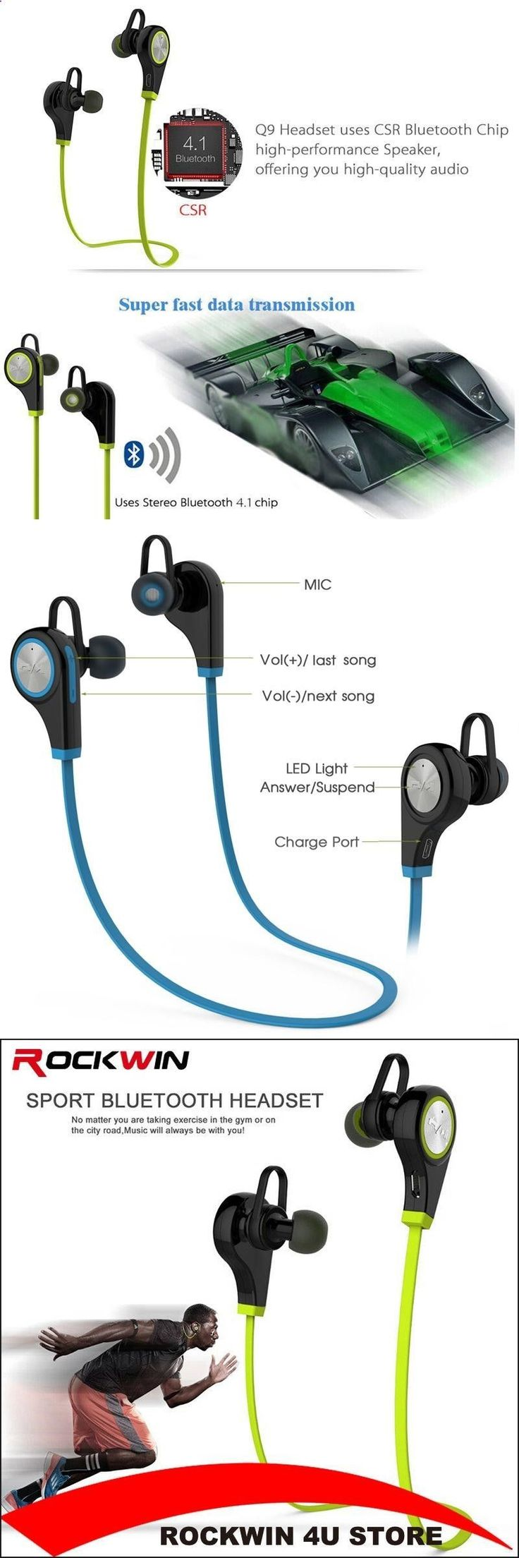 Sports Headphones - Sports Headphones - Bluetooth Earphone Wireless Sports Headphones In ear Headset Running Music Stereo Earbuds Handsfree with Mic for Smartphones - If you usually go out to run, walk or any other sport in which you usually carry music to accompany or motivate you, we have selected 13 models of sports headphones that we consider among the best in the market for different aspects, from comfort to use to design, sound quality or value for money, so that you find variety...