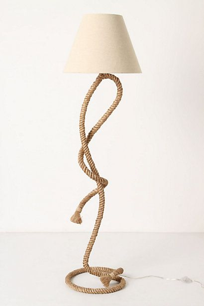 Kind of tacky and southwestern but I WANT- Paused Rope Floor Lamp  #anthropologie