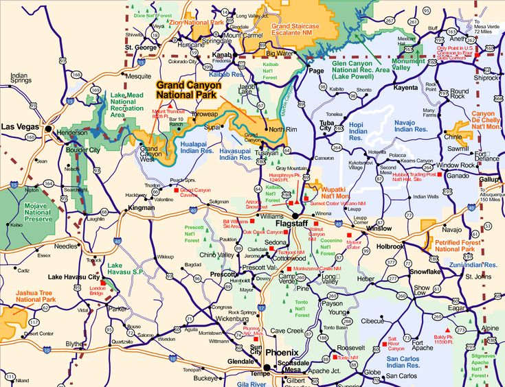 Map Of Arizona MAPS Pinterest - City map of arizona