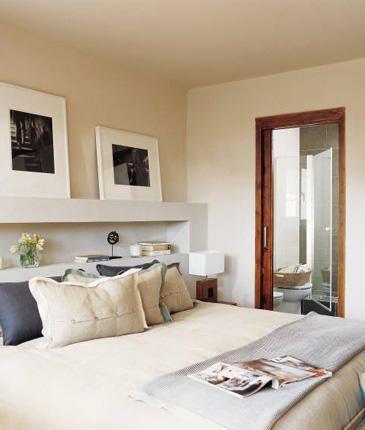 Dónde poner cama grande en habitación pequeña | Decorar tu casa es facilisimo.com