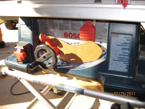 upgraded the dust collection on Bosch table saw