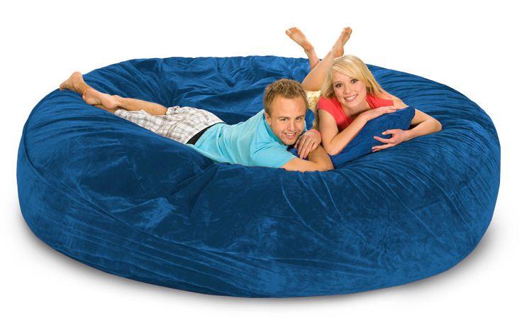 8 ft Royal Blue Bean Bag Bed