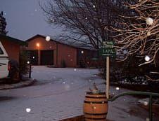 Hier by Rondefontein Guest Farm in Springfontein sneeu dit soms in die winter.