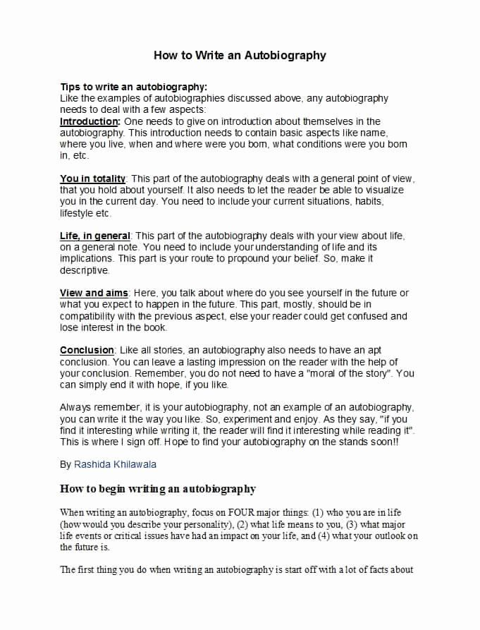 Example Of Autobiography About Yourself Unique 40 Autobiography Examples Autobiographical E Cover Letter Template Free Cover Letter Template Document Templates
