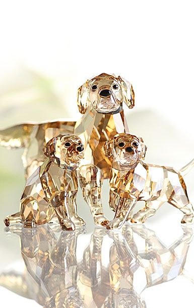 Swarovski crystal dogs, so glad these are on sale in h Samuel at the moment they are so adorable but it's just finding where is safe enough to put them