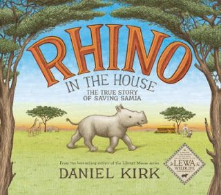 To this day they are still listed as critically endangered.  One woman devoted more than three decades to providing protection for these creatures.  Her name is Anna Merz.  Rhino In The House: The True Story Of Saving Samia (Abrams Books for Young Readers, March 14, 2017) written and illustrated by Daniel Kirk is about Anna and the remarkable relationship she had with a black rhino.