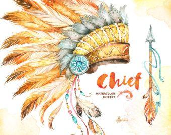 Dreamcatchers. Clipart aquarelle. Tribal plumes par OctopusArtis
