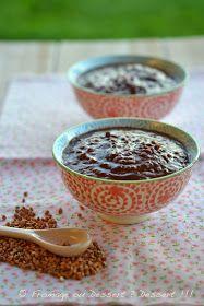 Fromage ou Dessert ? ... DESSERT !!!: Porridge de kasha (qu'est ce que c'est que cette bête là ?) au cacao et cranberries